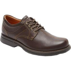 Men's Rockport Classics Revised Center Seam Brown Tumbled Pull Up Leather