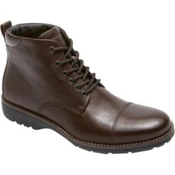 Men's Rockport Total Motion Street Cap Boot Coach Brown Leather