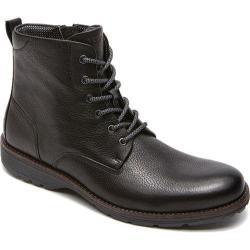 Men's Rockport Total Motion Street Plain Boot Black Leather