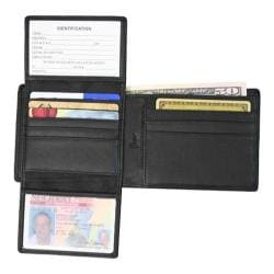 Royce Leather RFID Blocking Euro Commuter Wallet 109A-5 Black