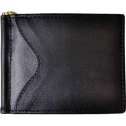 Men's Royce Leather RFID Blocking Money Clip Wallet Black