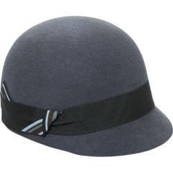 Women's San Diego Hat Company Folded Band Felt Cap WFH7888 Charcoal