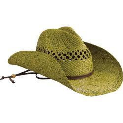 Women's San Diego Hat Company Raffia Cowboy Hat RHC Green