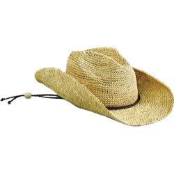 Women's San Diego Hat Company Raffia Cowboy Hat RHC1052 Natural