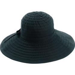 Women's San Diego Hat Company Ribbon Large Brim Hat w/ Bow RBL299 Black