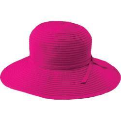 Women's San Diego Hat Company Ribbon Medium Brim Floppy RBM202 Berry