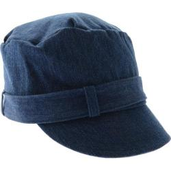 Women's San Diego Hat Company Up-Cycled Buckle Newsboy ECO1004 Denim