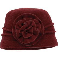 Women's San Diego Hat Company Wool Flower Cap WFH7898 Wine
