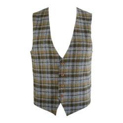Men's Saryan's Arthur Casual Flannel Vest Olive