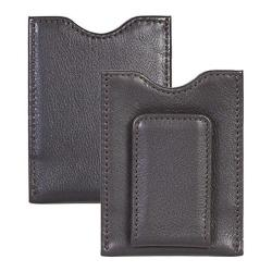 Men's Scully Leather Money Clip Soft Plonge 21 Chocolate