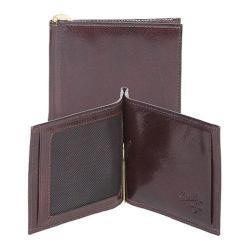 Men's Scully Leather Money Clip w/ID Window Italian Leather 2008 Walnut