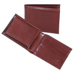 Men's Scully Leather Slim Billfold Removable Case Italian Leather 2005R Mahogany