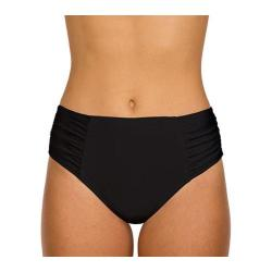Women's Sunsets Shirred High Waist Bottom Black