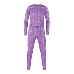 Girls' Terramar Power Play 2 Piece Set Purple Pebble Print
