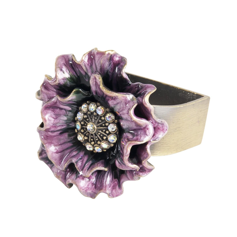 Flower Design Napkin Ring - set of 4