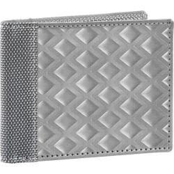 Men's Stewart Stand Bill Fold: Diamond Large Silver