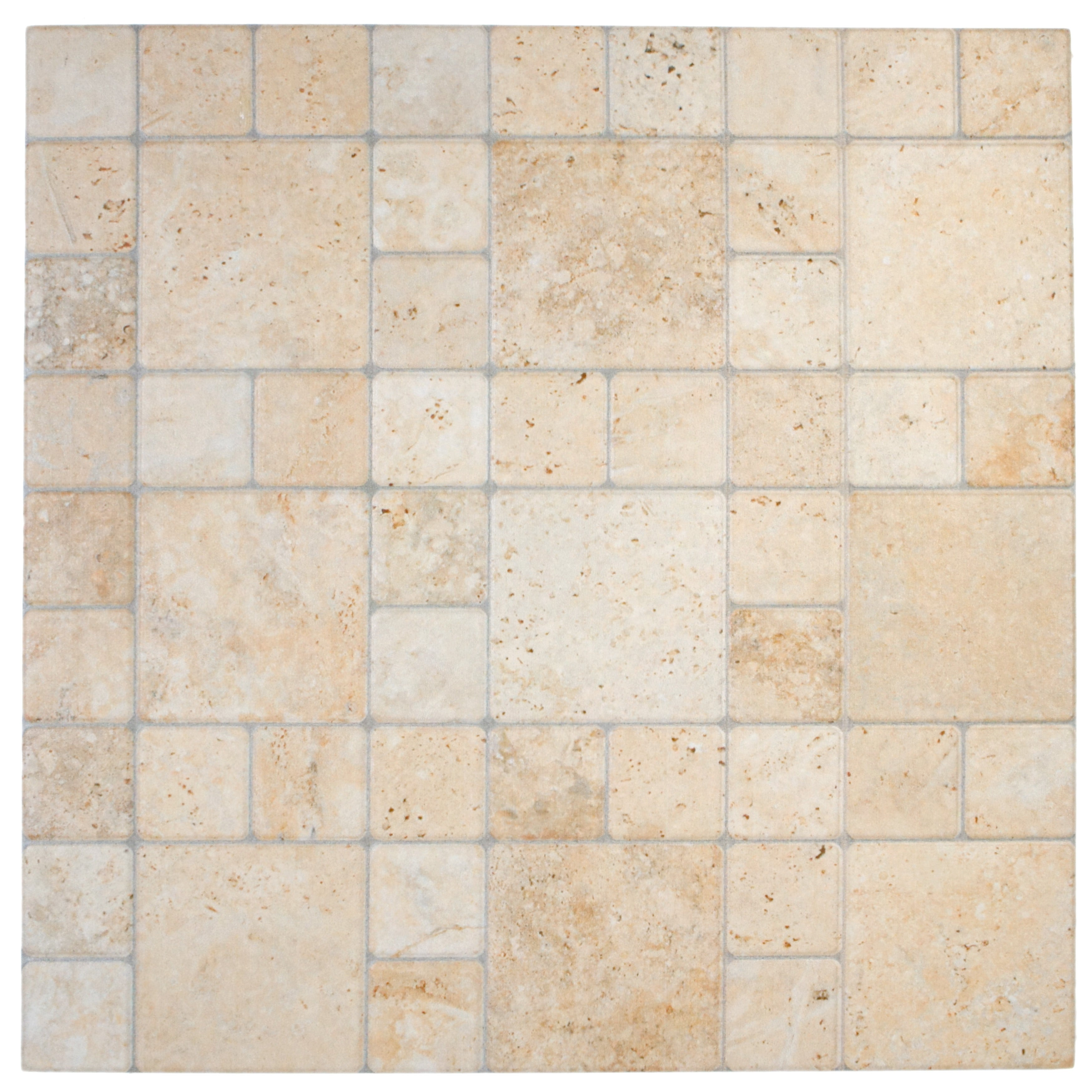 SomerTile 12.25x12.25-inch Folio Por Beige Porcelain Floor and Wall Tile (Case of 15)