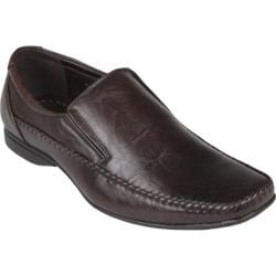 Men's Oxford & Finch Square Toe Slip-on Loafers 17712 Brown
