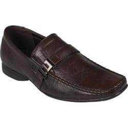 Men's Oxford & Finch Square Toe Slip-on Loafers 17720 Brown