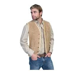 Men's Scully Leather Boar Suede Hunting Vest 82 Tobacco Boar Suede