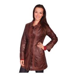 Women's Scully Leather Chestnut Lamb Coat L639 Chestnut Lamb