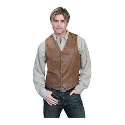 Men's Scully Leather Frontier Leather Vest 93 Maple