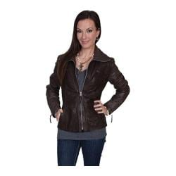 Women's Scully Leather Hand Finished Lamb Jacket L30 Black