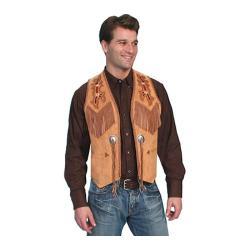 Men's Scully Leather Handlaced Bead Trim Vest 755 Bourbon Boar Suede