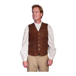 Men's Scully Leather Lamb Suede Vest 926 Brown