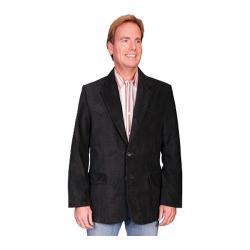 Men's Scully Leather Lambskin Blazer 501 Black Boar Suede