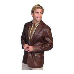 Men's Scully Leather Lambskin Blazer 501 Chocolate