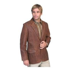 Men's Scully Leather Lambskin Blazer 501 Brown