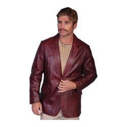 Men's Scully Leather Lambskin Blazer 501 Long Black Cherry
