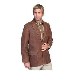 Men's Scully Leather Lambskin Blazer 501 Long Brown