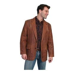 Men's Scully Leather Lambskin Blazer w/ Caiman Inlays 953 Brown