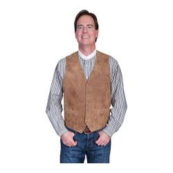 Men's Scully Leather Lambskin Button Front Vest 503 Maple