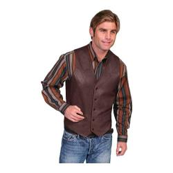 Men's Scully Leather Lambskin Button Front Vest 503 Chocolate