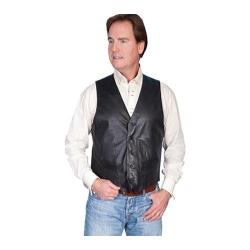 Men's Scully Leather Lambskin Contemporary Vest 122 Long Black