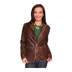 Women's Scully Leather Lambskin Jacket L606 Brown