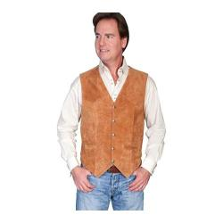 Men's Scully Leather Lambskin Snap Front Vest 507 Rust