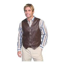 Men's Scully Leather Lambskin Snap Front Vest 507 Brown Soft Touch Lamb