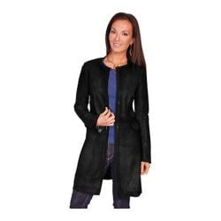 Women's Scully Leather Laser Cut Leather Coat L236 Black