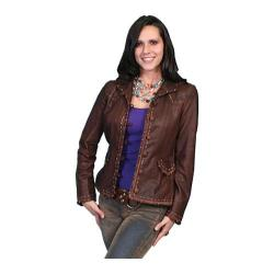 Women's Scully Leather Soft Lambskin Jacket L988 Brown