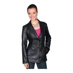 Women's Scully Leather Tailored Lamb Blazer L646 Black Lamb