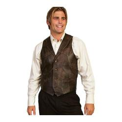 Men's Scully Leather Whip Stitch Leather Lapel Vest 206 Brown Buff