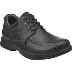 Men's Clarks Senner Blvd Black Tumbled Leather