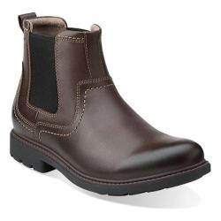 Men's Clarks Sumner Hi Brown Leather
