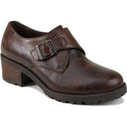 Women's Eastland Amherst Slip-on Bomber Brown Leather