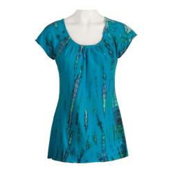 Women's Ojai Clothing Yoga Top Turquoise Blue