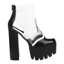Women's Beston Rocker06 White Faux Leather